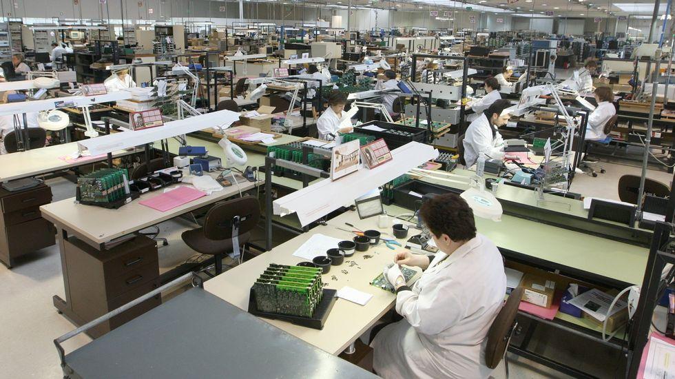 Imagen reciente de la factoría de Arteixo Telecom en As Pontes