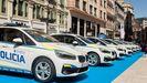 Varios vehículos de BMW, en la presentación de la nueva flota de la Policía Local de Oviedo