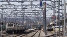 El único tramo electrificado de la vía de Ourense a Lugo llega hasta la estación de Monforte (en la foto)