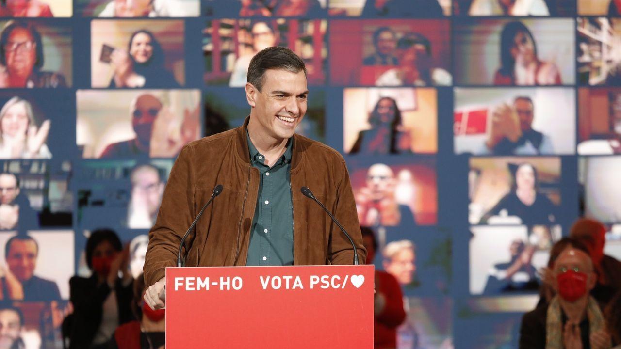 Sánchez, sobre Yolanda Díaz: «Tengo la mejor de las opiniones sobre ella, cuenta con todo mi apoyo».Pere Aragonès, a su llegada a la reunión semanal del Gobierno catalán, la primera tras las elecciones