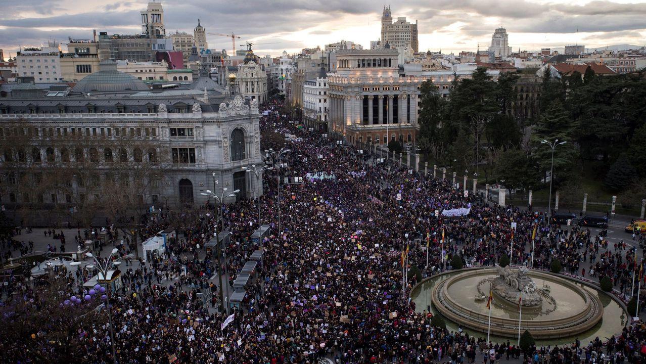 Vista general de la manifestación del 8M en Madrid