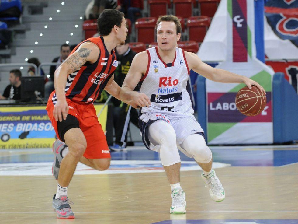Rafa Luz, en el partido disputado en el Buesa Arena.
