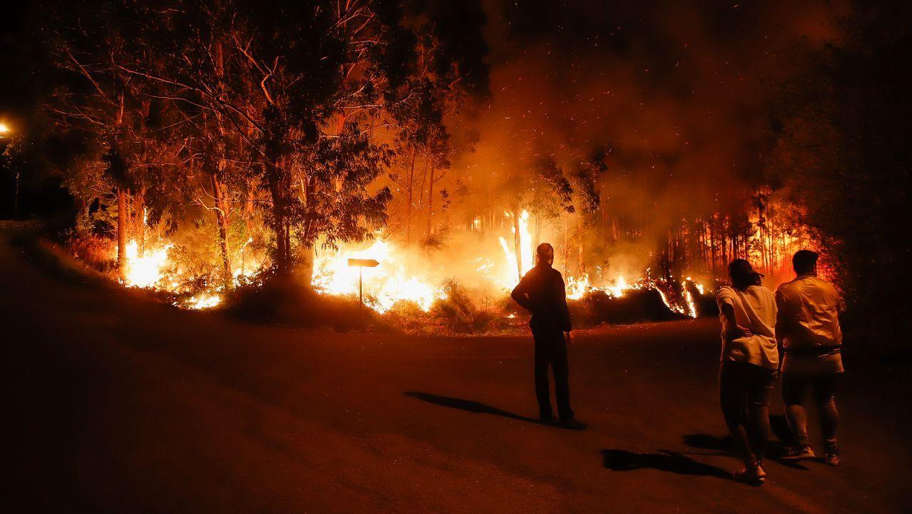 Incendios en Noia y Lousame