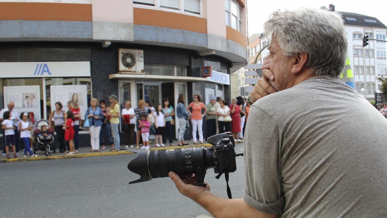Los vecinos del barrio lucense de As Gándaras se manifestaron el pasado marzo contra las okupaciones