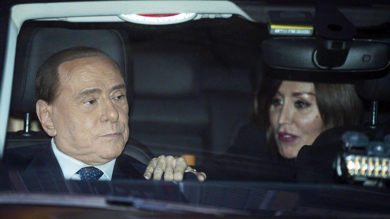 Berlusconi acudió a la cita sin Salvini, su principal aliado