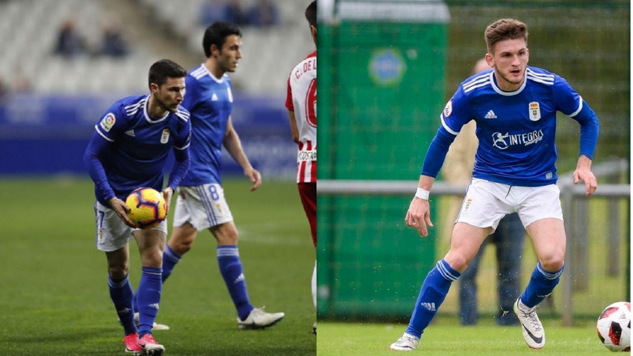 Ibra Joselu Real Oviedo Osasuna Carlos Tartiere.Omar Ramos y Viti Rozada