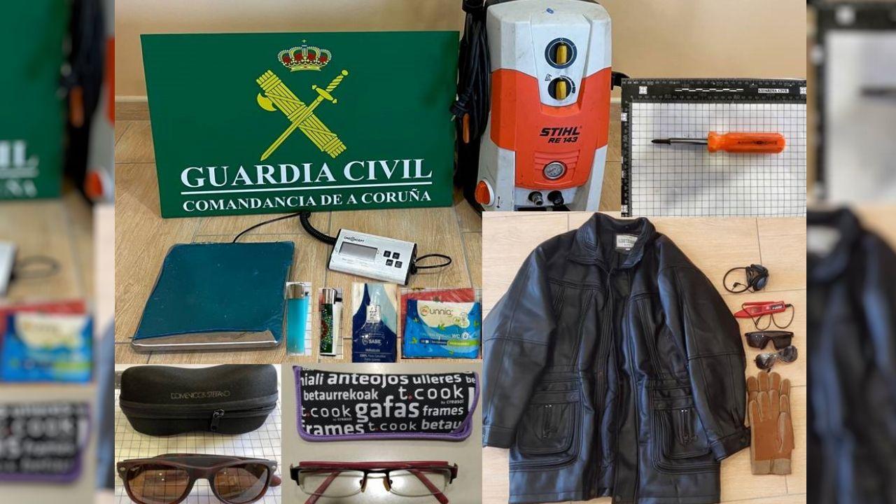 Hosteleros de Barbanza se concentran para pedir un plan de rescate.Parte de los objetos recuperados, que fueron devueltos a sus dueños