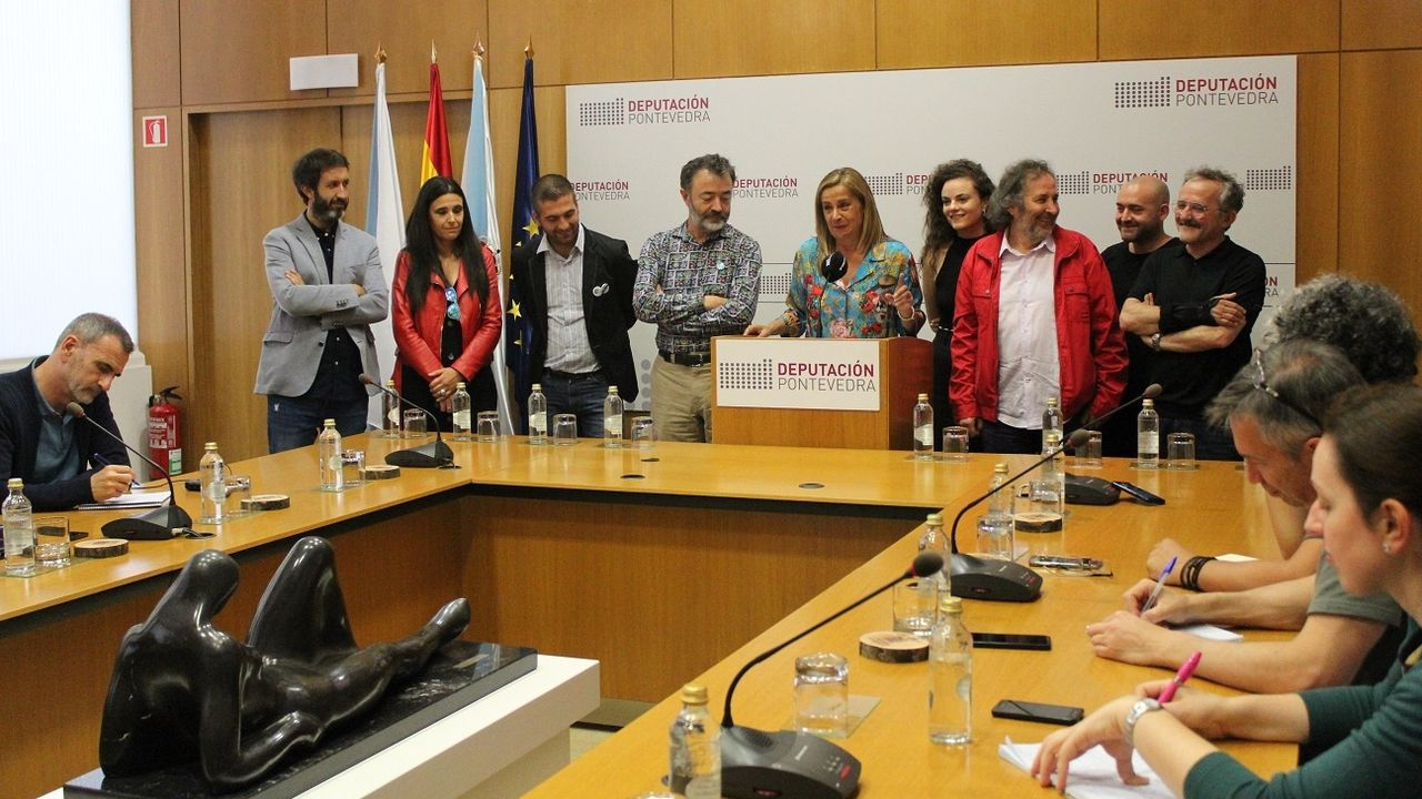 Presentación na Deputación de Pontevedra de «María Solinha», de Ignacio Vilar