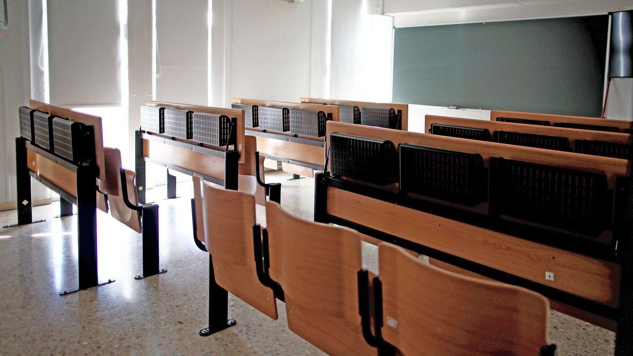 Aulas vacías en las universidades por la pandemia