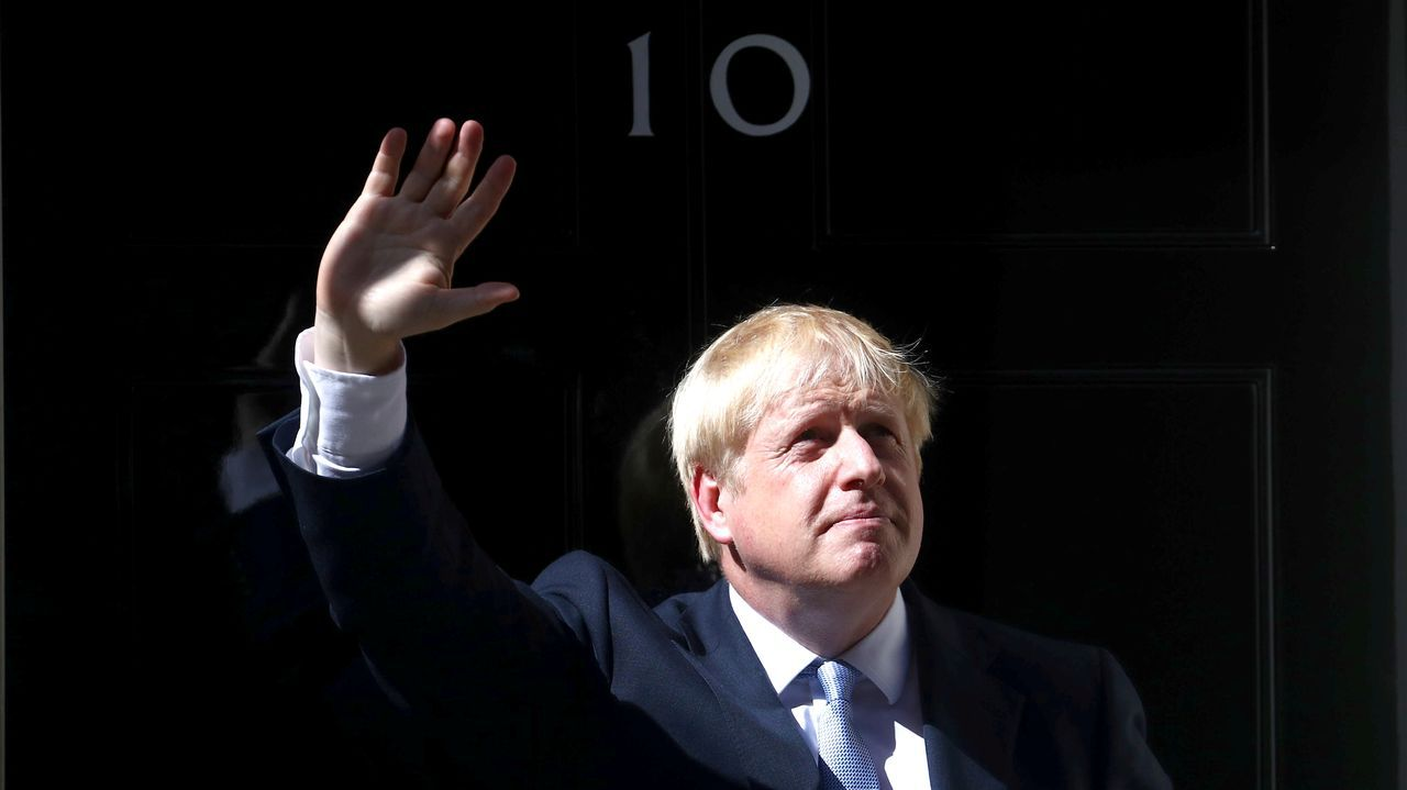 Boris Johnson, a su llegada al 10 de Downing Street