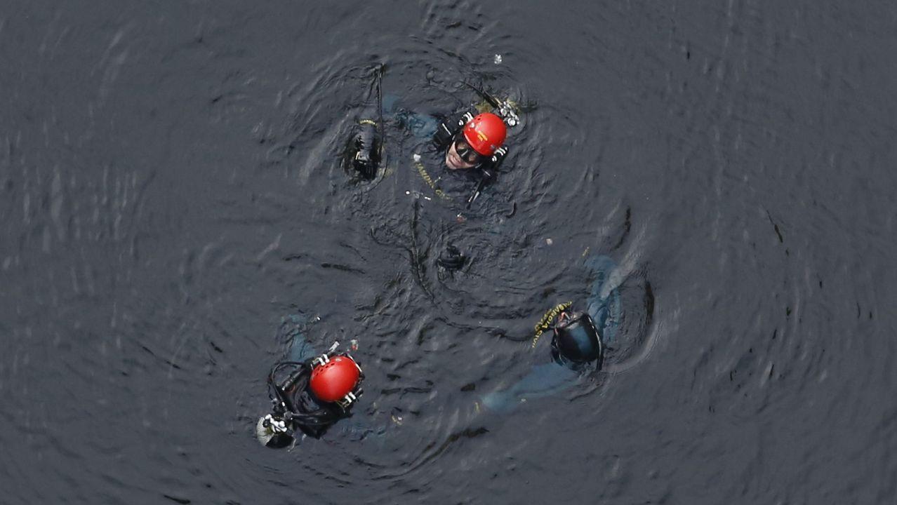 En la poza del Ulla, los buzos de la Guardia Civil hicieron dos inmersiones. La última el 21 de noviembre del 2018, que es a la que se corresponde la imagen
