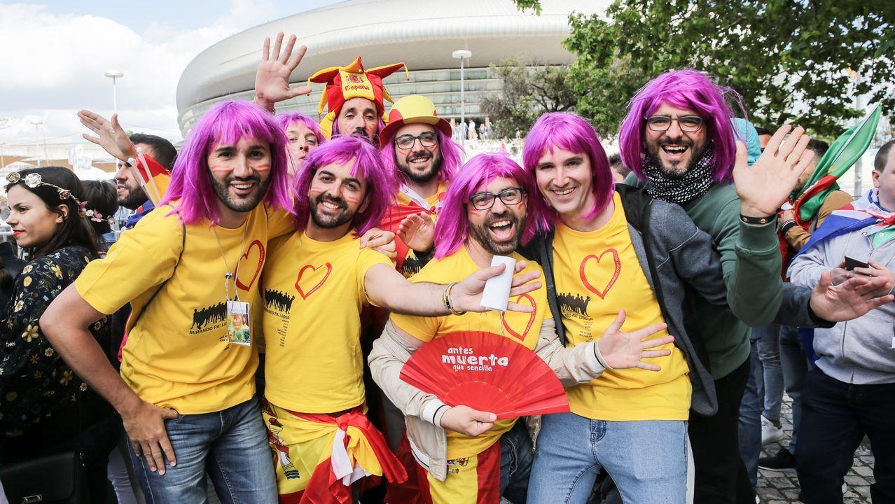 Un espontáneo toma el escenario de Eurovisión