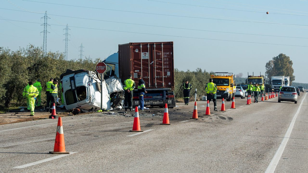 Accidente con cinco muertos en Utrera, Sevilla