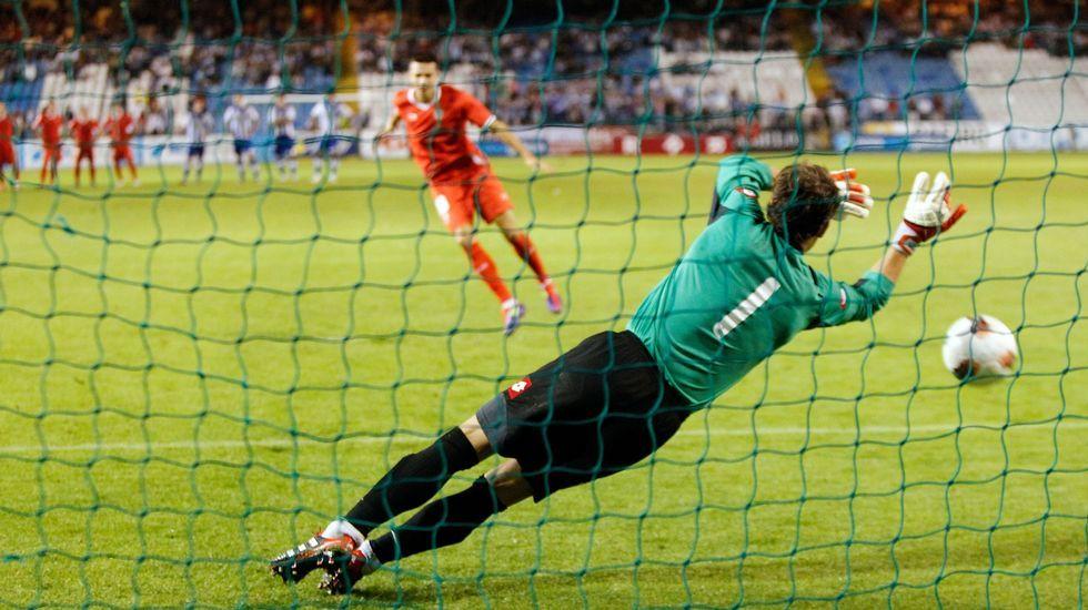 Málaga - Deportivo, en imágenes