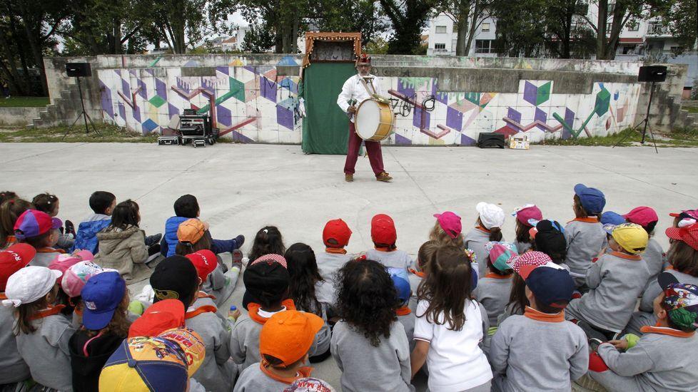 Teatro infantil al final del recorrido en el Parque dos Condes