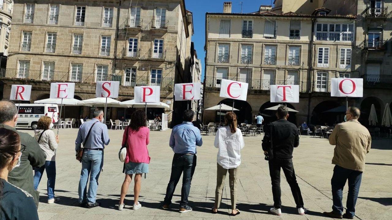 La Ciudad de la Xustiza de Vigo, a un paso.Protesta de los trabajadores del Concello de Ourense