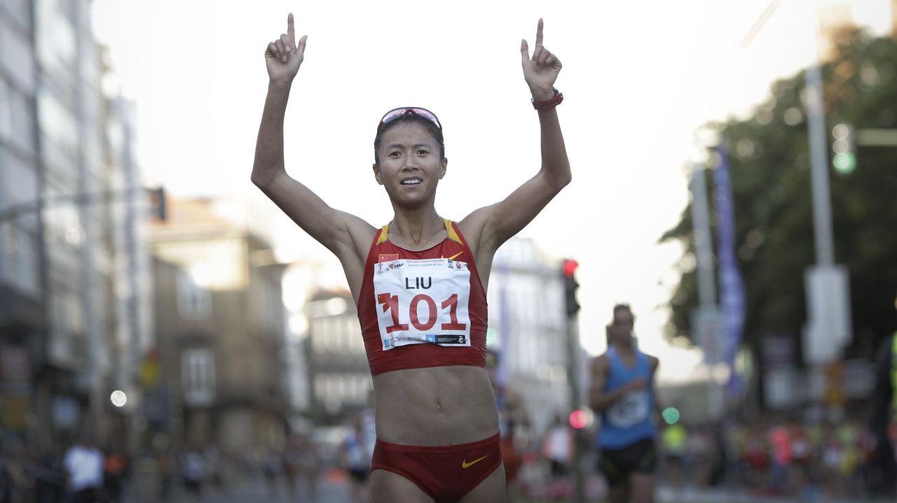 Liu Hong, victoriosa en la meta del Gran Premio de los Cantones del 2015