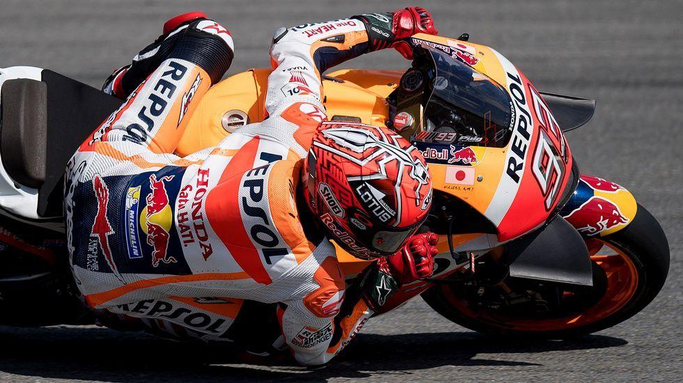 Así fue la bronca entre Lorenzo y Rossi.Pol Espargaró, durante los entrenamientos en Silversonte
