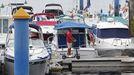 El puerto deportivo de Sanxenxo, días atrás