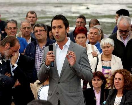 José Ramón Val, en un mitin en Viveiro en el 2012.