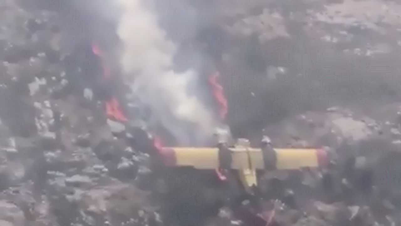 Accidente de un avión de extinción de incendios en Lobios