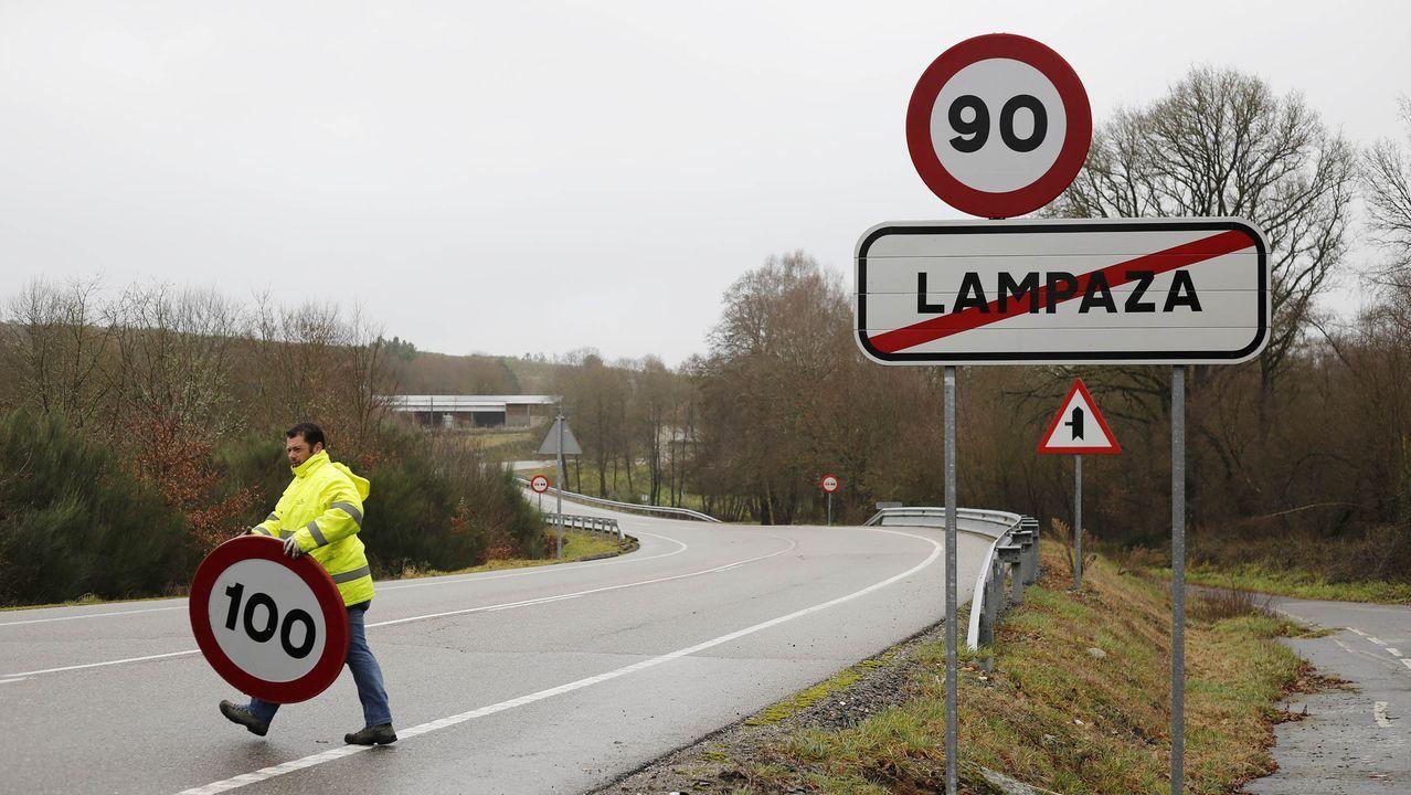 Colapso de Alfonso Molina.La autovía minera en el acceso a Gijón