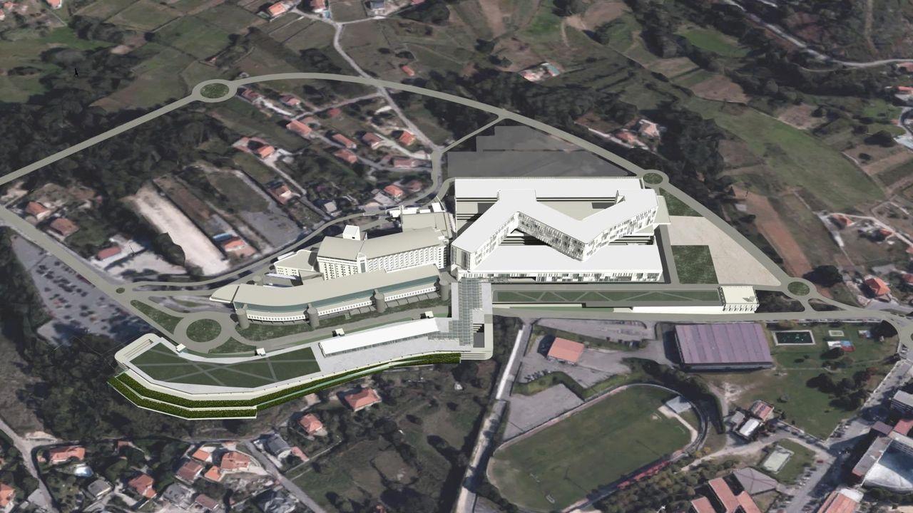 Recreación del proyecto del Gran Montecelo, en Pontevedra