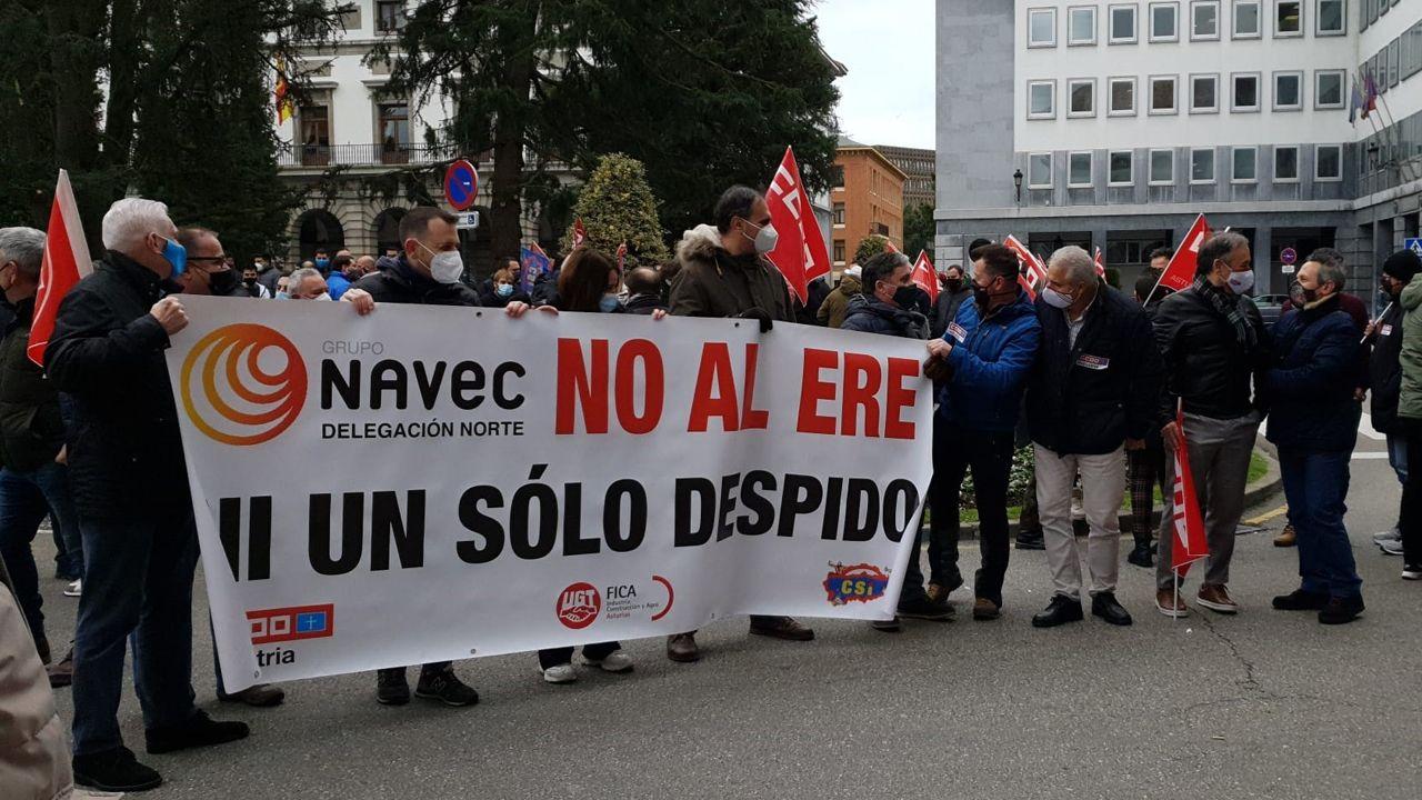 Concentración de trabajadores de Navec