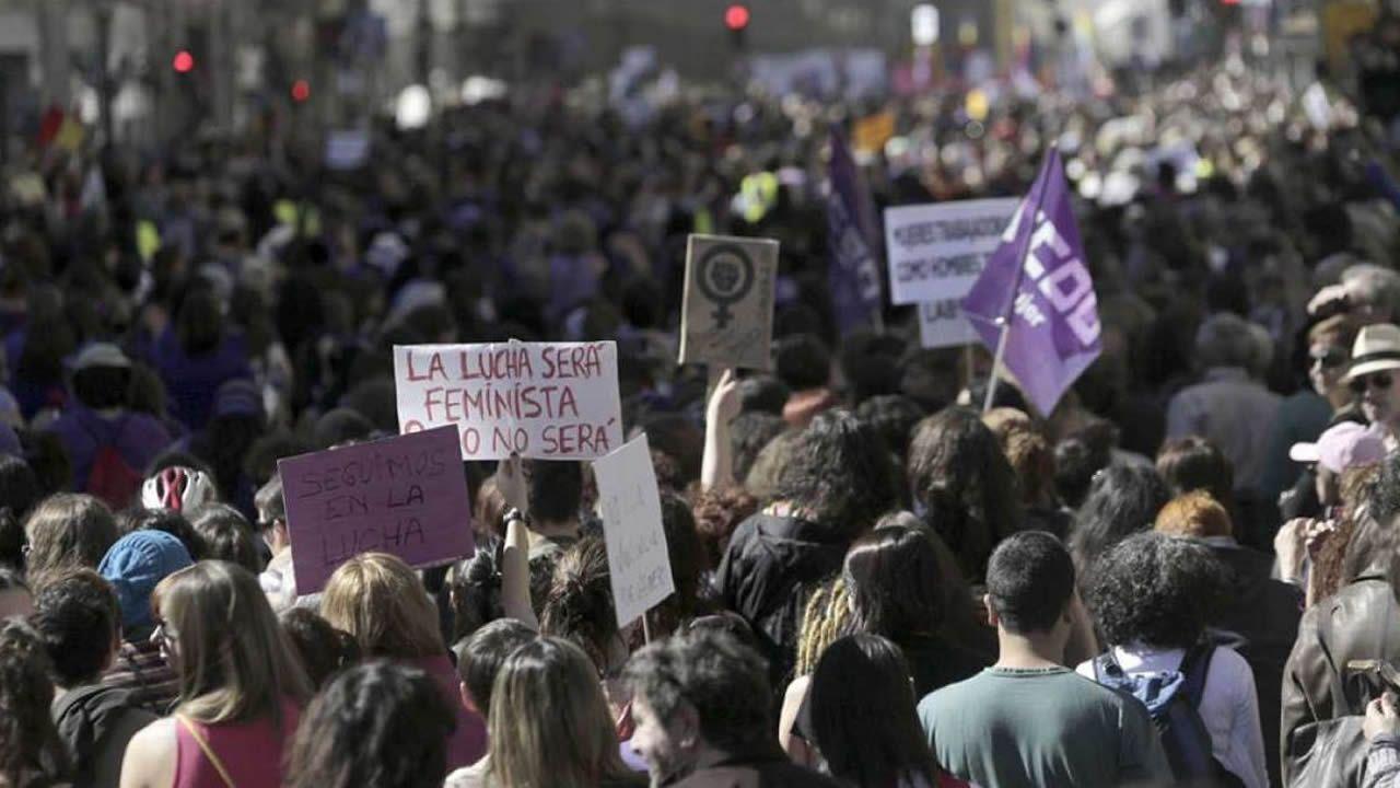 1 de mayo en las calles de A Coruña.Huelga feminista del 8 de marzo