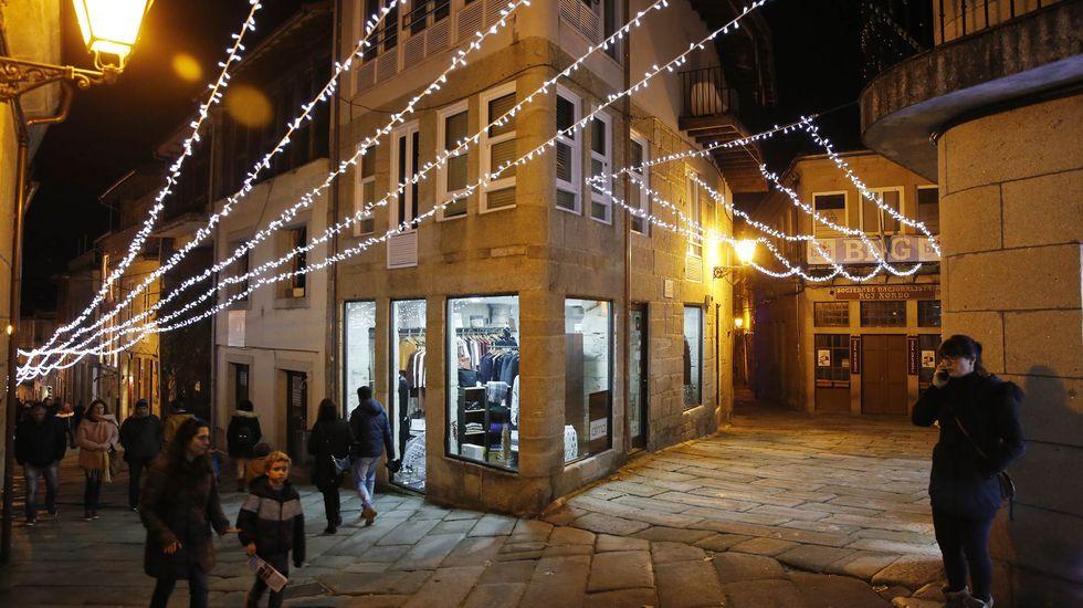 En Allariz han instalado un gran poblado navideño