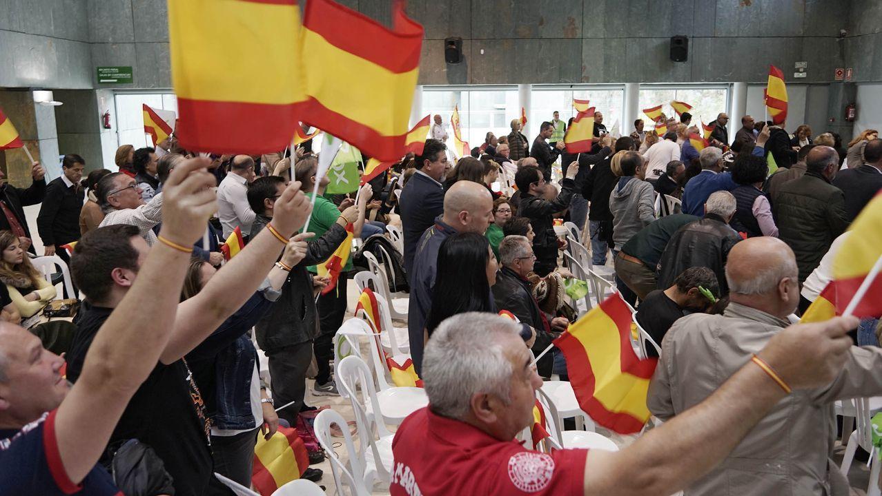 La manifestación contra el Gobierno en Madrid organizada por Vox cita a miles de personas.Coches participantes en la protesta de Vox  en Oviedo