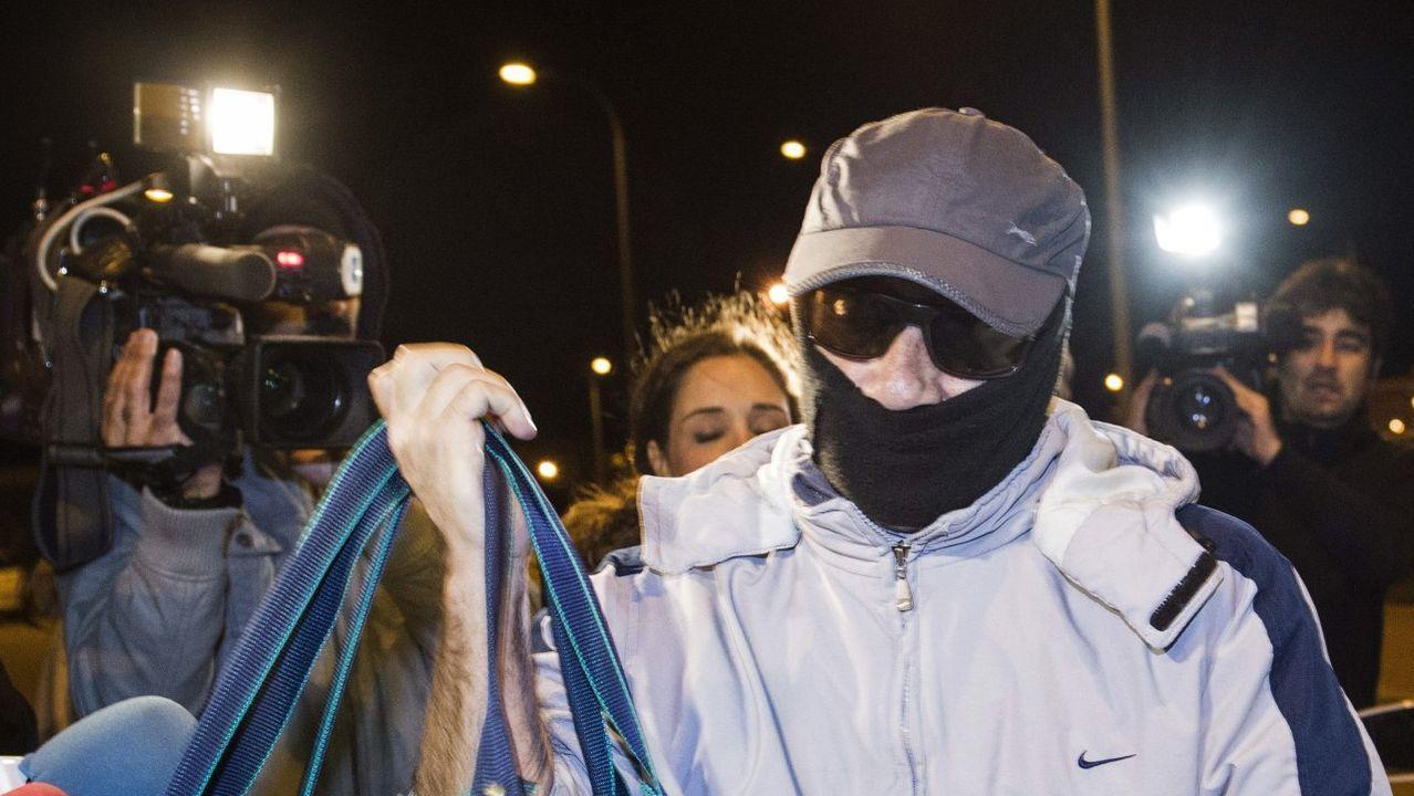 Pedro Luis Gallego, en el 2013 al abandonar la cárcel tras beneficiarse de la derogación de la doctrina Parot