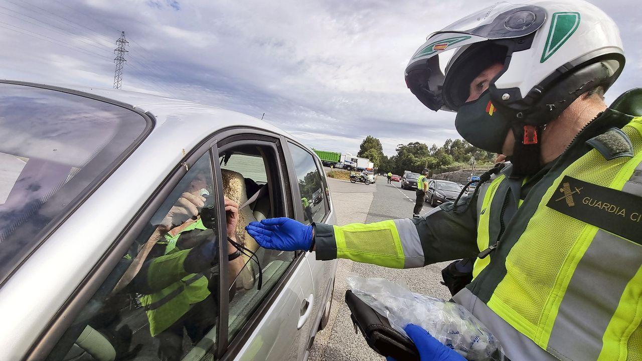 Control de alcoholemia realizado este miércoles en la N-550 en Pontevedra