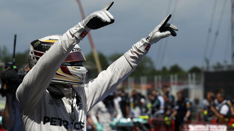 Gran Premio de Europa.Fernando Alonso se pone el casco antes de salir a la Q3 del gran premio de España, en Montmeló.