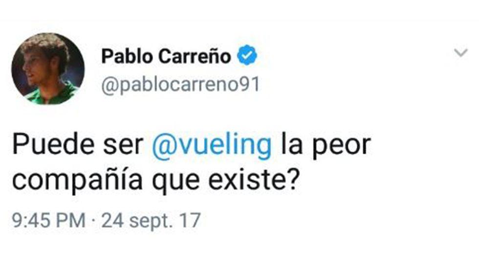 Pleno ordinario de septiembre el Ayuntamiento de Vigo.Mensaje de Carreño en Twitter contra Vueling