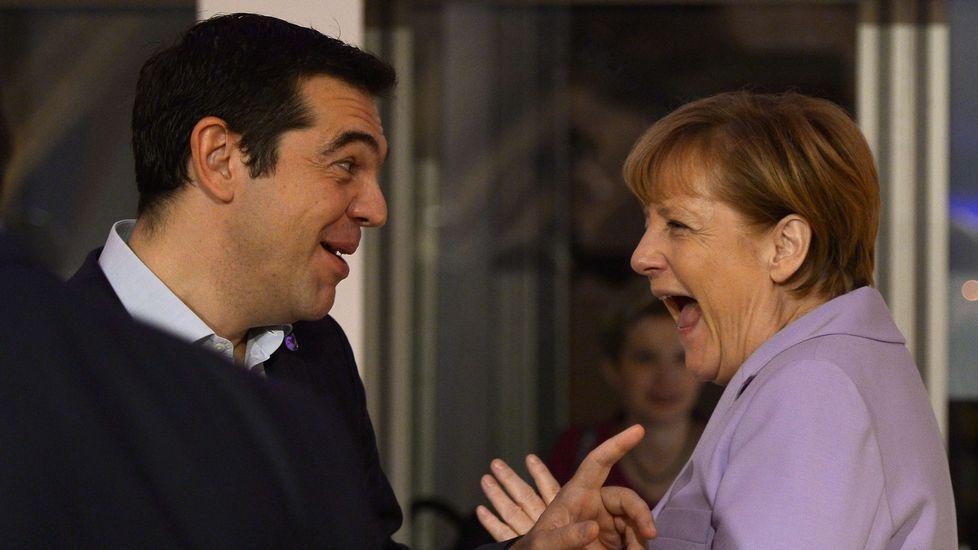 Tsipras y Merkel, en la cumbre