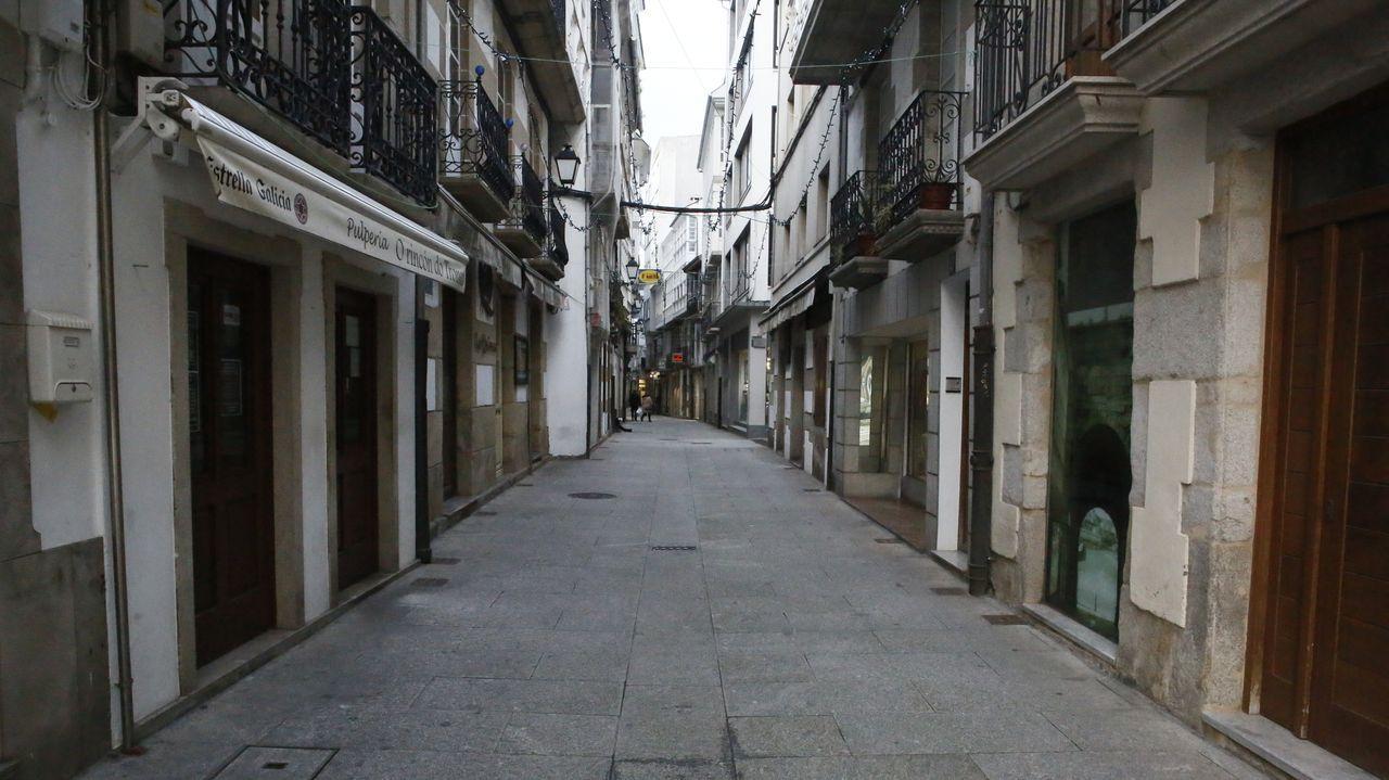 Una vista de una parte del casco urbano de Monforte desde el monte de San Vicente