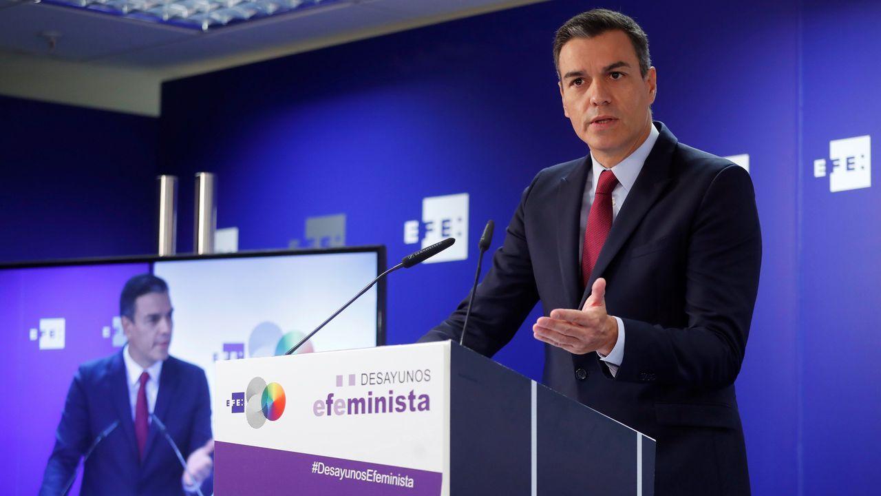 Pablo Casado, este jueves en Santoña