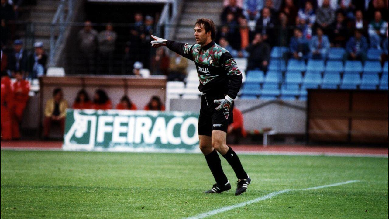 Julen Lopetegui recuerda sus grandes paradas al Dépor en Las Gaunas.Copa