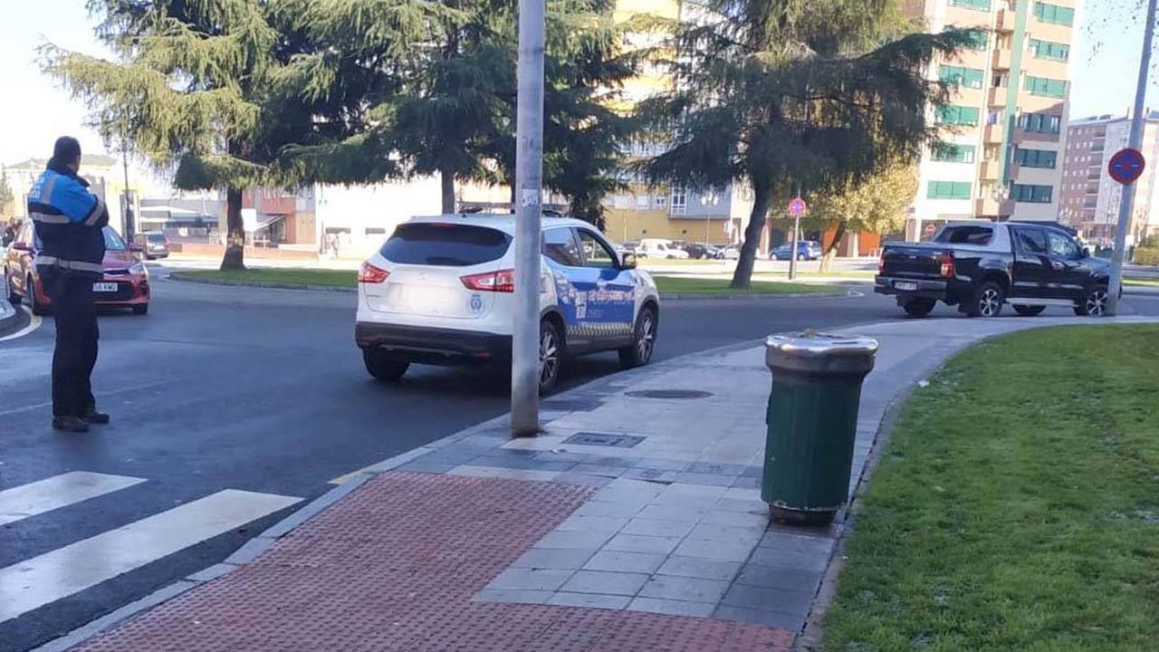 Paso de peatones de Oviedo en el que una mujer sufrió un accidente por el hielo