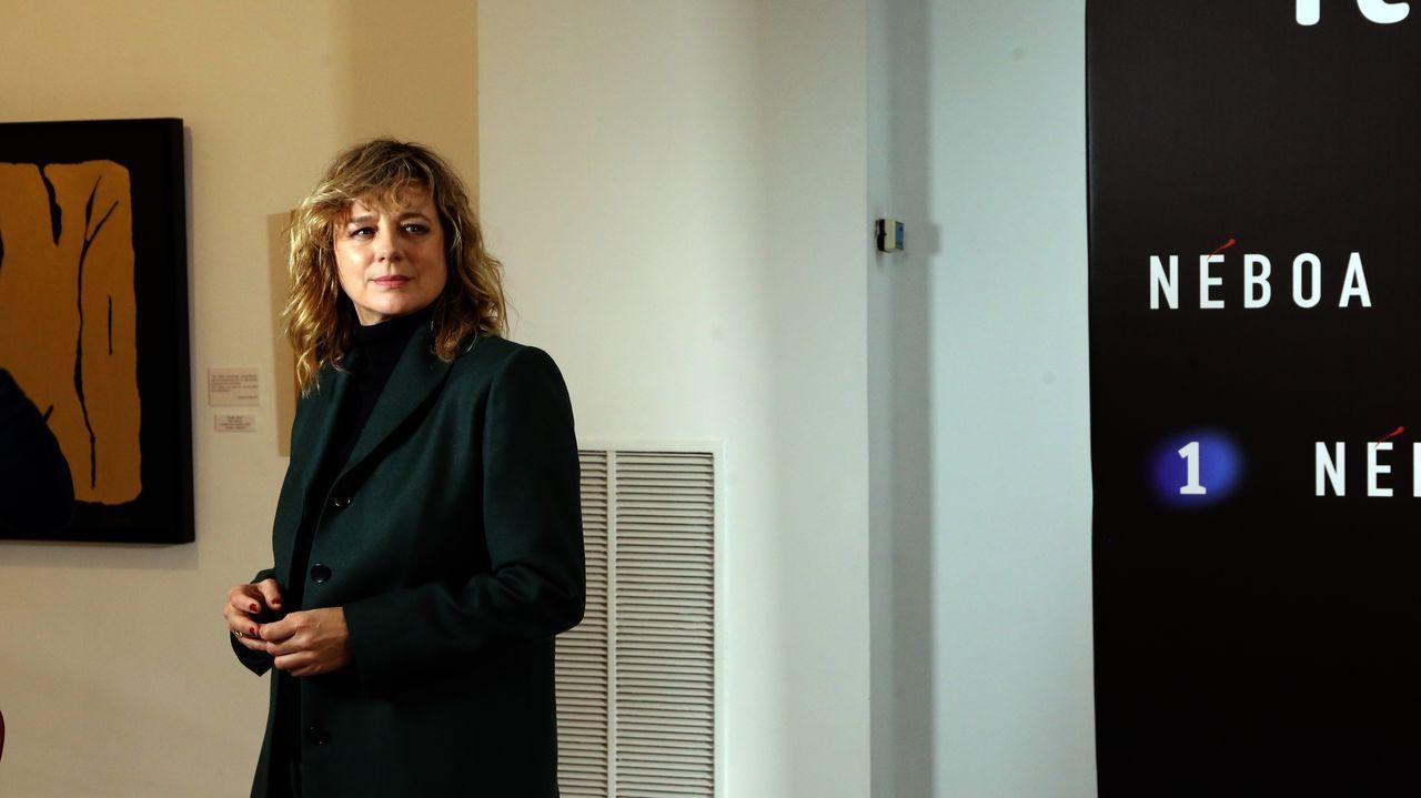 La actriz Emma Suárez, protagonista de la serie, en el preestreno de «Néboa»