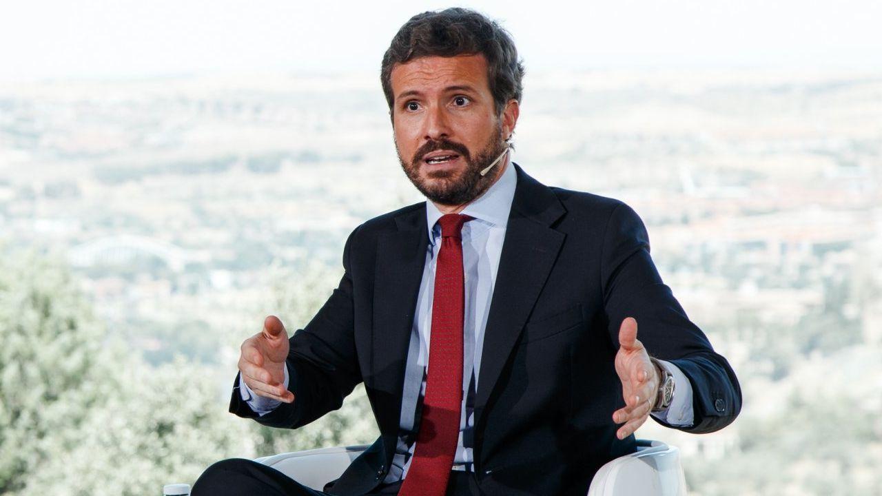 El presidente del PP, Pablo Casado, el pasado 12 de julio en Toledo
