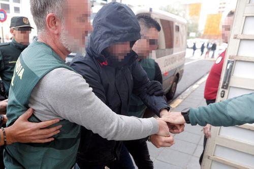 El autor confeso de la muerte de Marta Calvo, Jorge Ignacio P.J., de 38 años, a su llegada al Juzgado 6 de Alzira (Valencia), que se encargará de la instrucción del sumario sobre los hechos