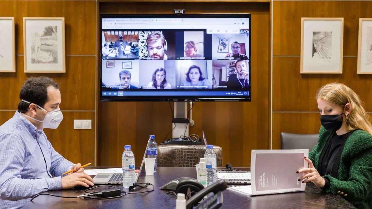 Una de las reuniones telemáticas de los jurados de los premios