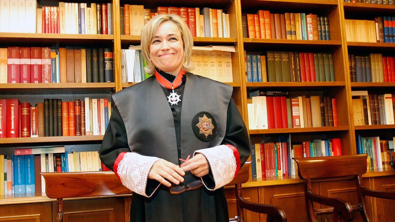 Castro, en una imagen tomada el día de su entrada en la Real Academia Galega de Xurisprudencia en el 2012