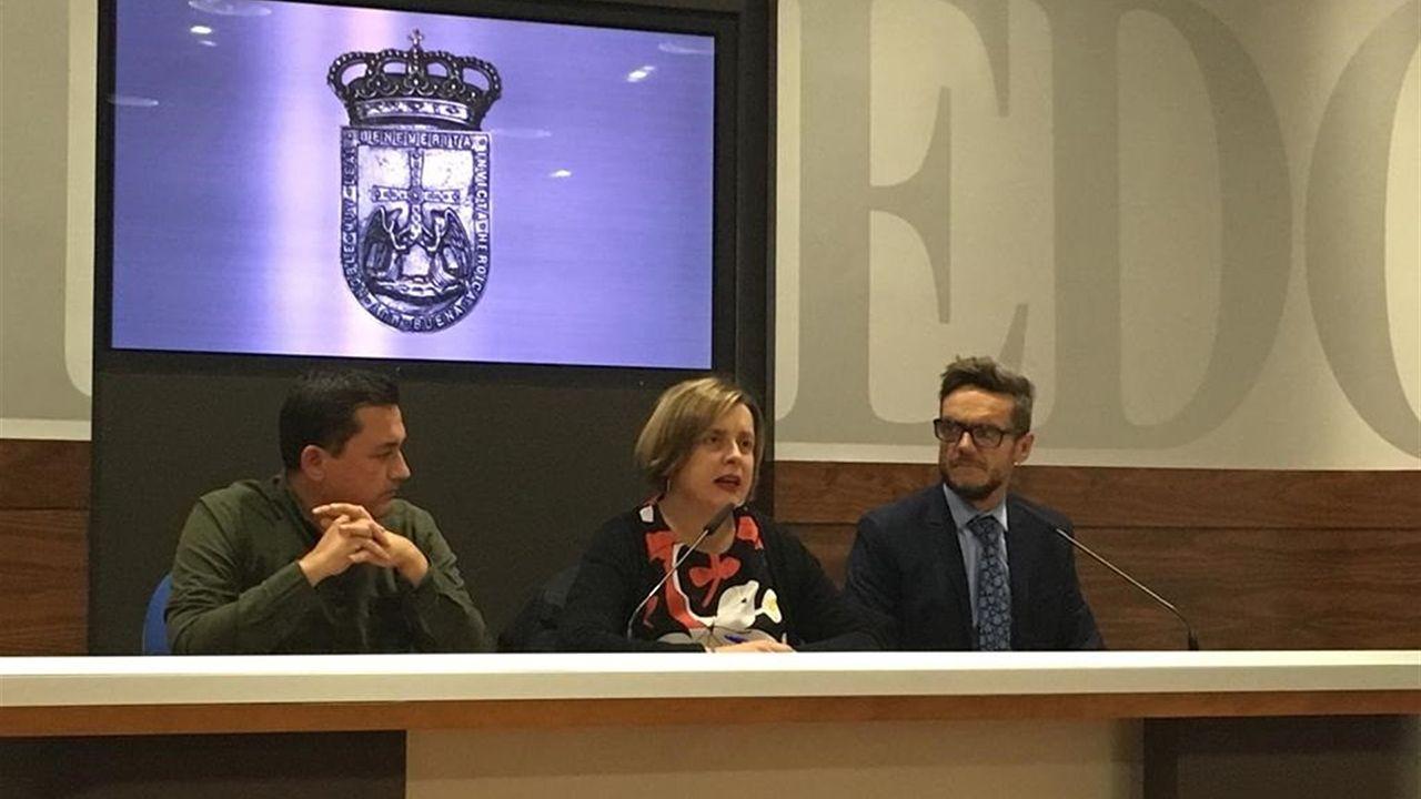 Fernando Villacampa, Ana Taboada y Javier Calzadilla