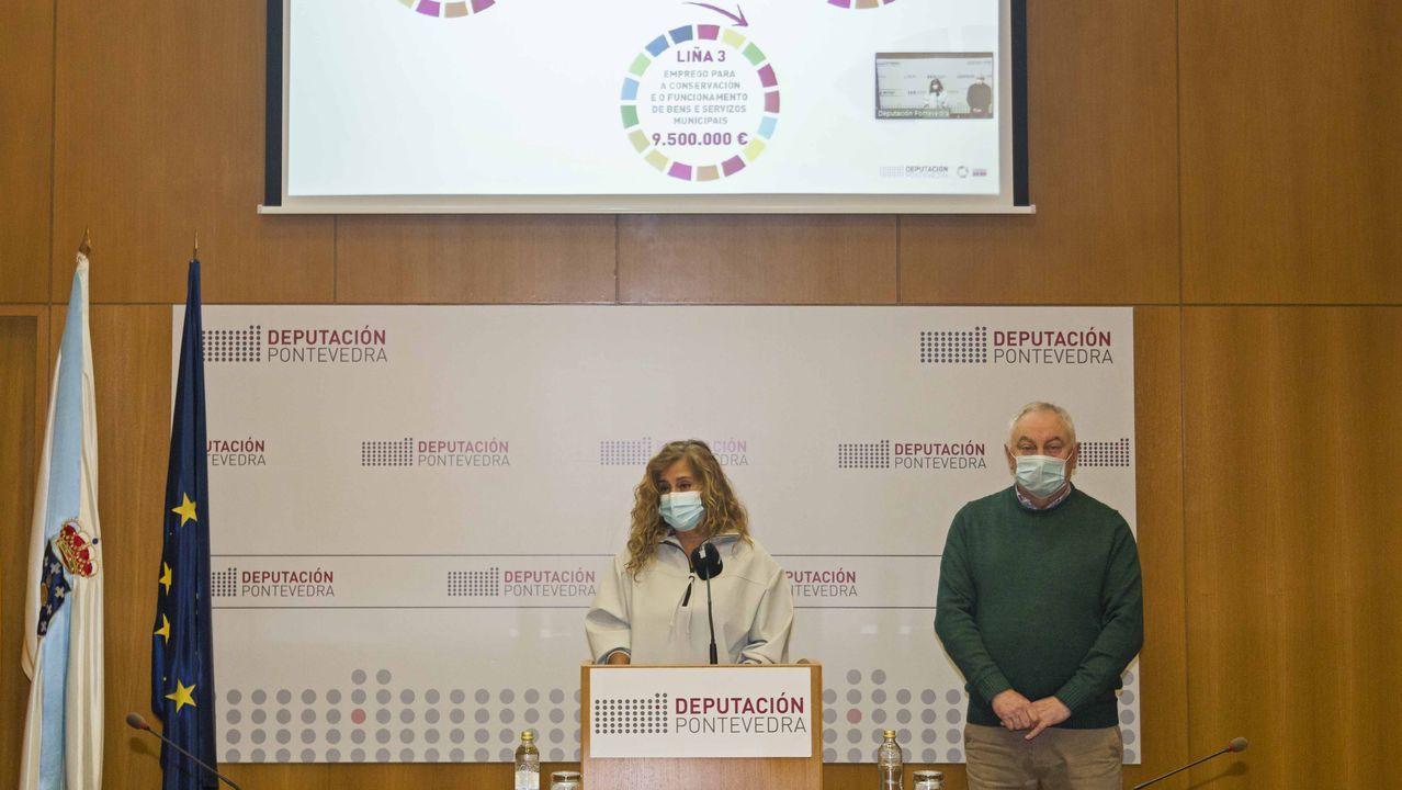 Entrada deUrgencias del Hospital Montecelo, en Pontevedra