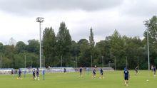 Entrenamiento del Real Oviedo en El Requexón