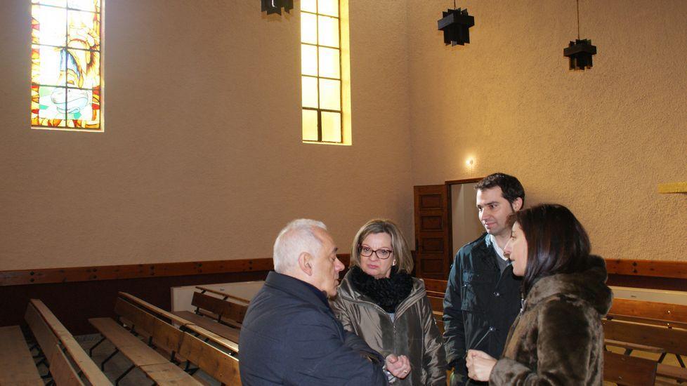 Ya hay más pensionistas que trabajadores.Con fondos del GDR se rehabilitó la iglesia de Sobradelo
