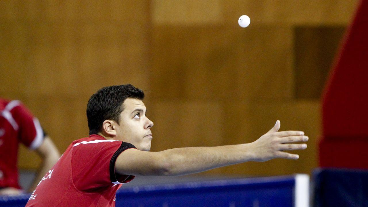 Special Olympics en Vilagarcía.Club de tenis de mesa AD Zas